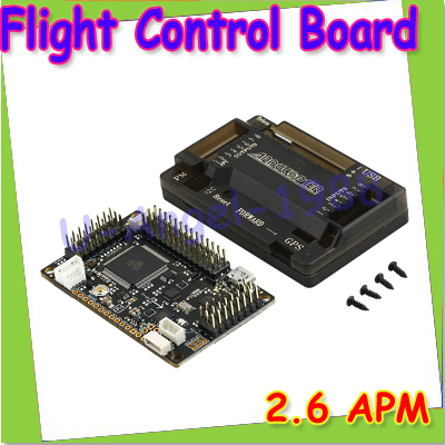 Free Shipping APM2.6 ArduPilot Mega 2.6 APM Flight Control Board Interbal Compass w/ Protective Case for Multicopter Airplane
