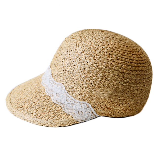 fee485ee3b7 Surblue Women Straw Hats Fashion beach Hats for ladies Outdoors Sun  Protection Snapback large Brim Visor Baseball caps Summer
