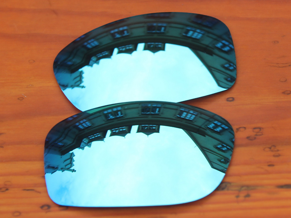 Голубой лед зеркало Поляризованные замены Оптические стёкла для Pit Bull Солнцезащитные очки для женщин Рамки 100% UVA и UVB Защита