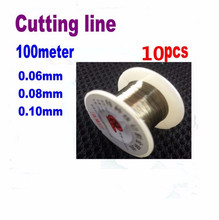10pcs 0.06 0.08 0.1mm LCD Screen Separation Diamond Wire Cutting Line for Mobile Phone Repair Tools 100 meters