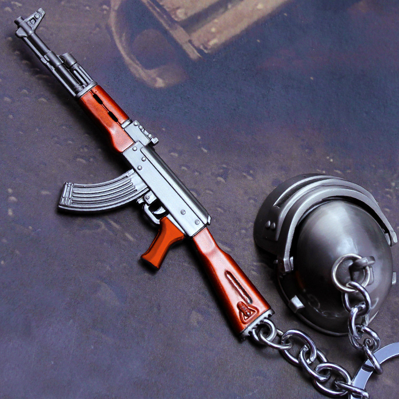 Outdoor Fun & Sports Mini Gun Hanger 1set AKM toy submachine gun + Flat Bottomed AKM 98K Model Weapon for Boy Jsuny Toy