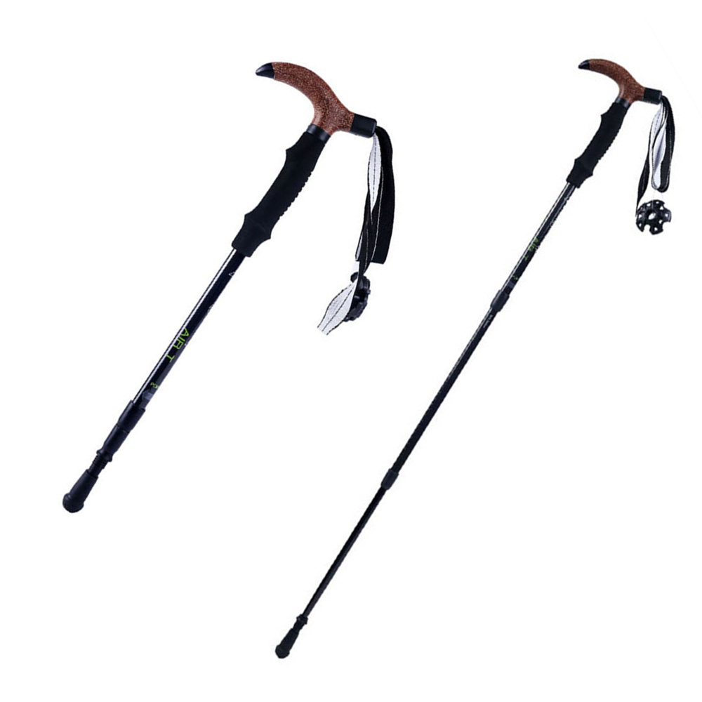KingCamp Walking <font><b>Stick</b></font> 3 section Cane Hiking <font><b>Sticks</b></font> telescopic trekking pole Ultralight Adjustable Cane