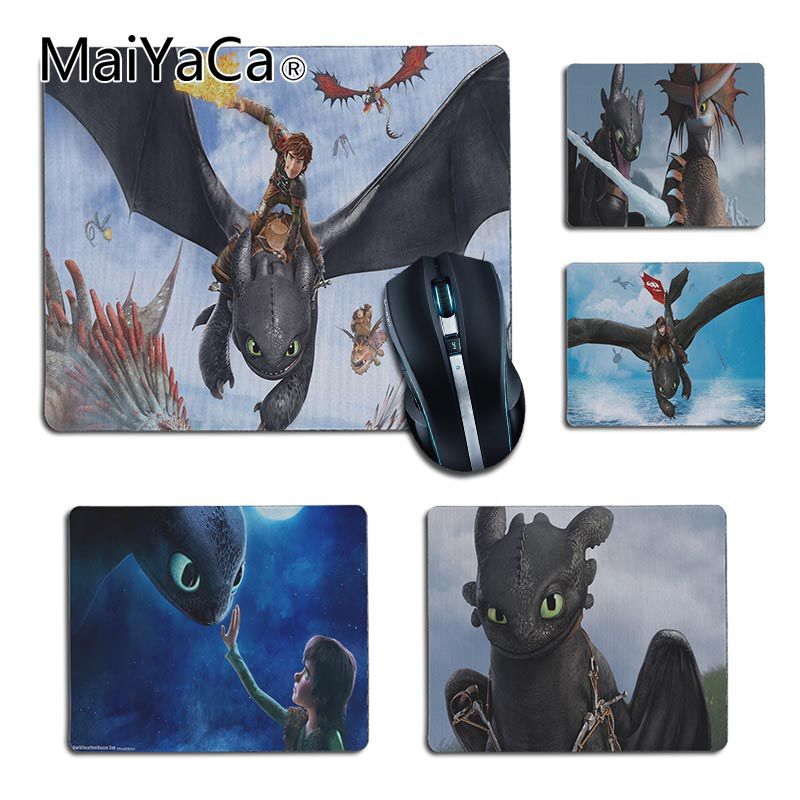MaiYaCa Simple Design How to Train Your Dragon Customized Computer Laptop Anime Mouse Mat Size 25x29cm 18x22cm Rubber Mousemats