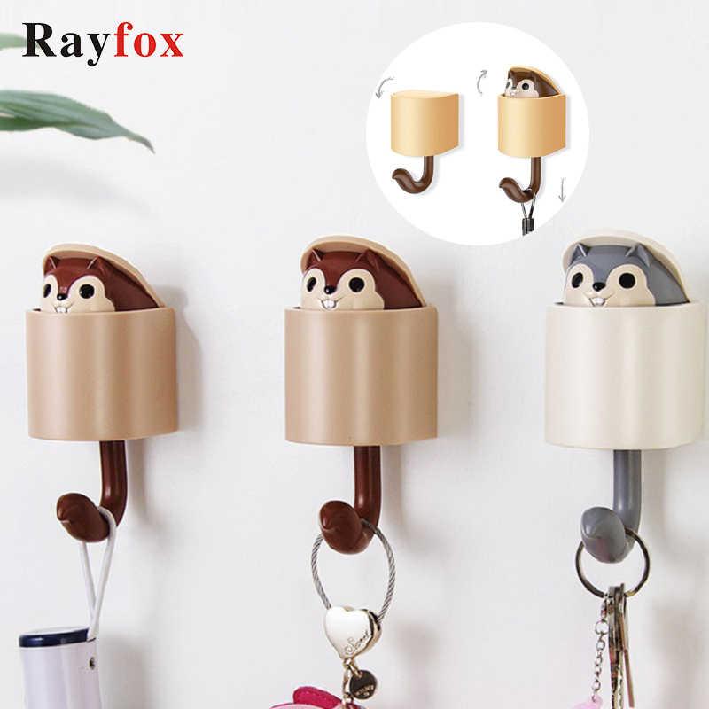 Bathroom Accessories Creativity Outstretch Squirrel Hook Coat Wall Hook Key Holder Wall Home Decoration Kitchen Hook Coat Hanger Hooks Rails Aliexpress