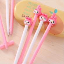 Cartoon girl with gel pen black ink Kawaii Office stationery material escolar neutral pens school supplies