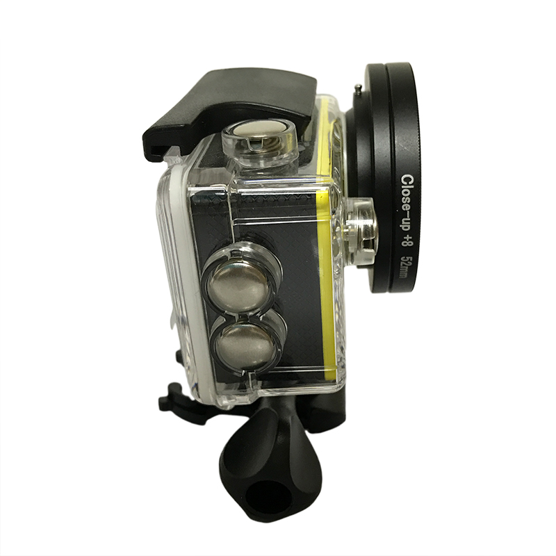Image 4 - 3pcs/lot 52mm Macro Close Up Filter Lens Kit +2/4/8 for Eken Accessories Eken H9 H9R h9pro H9SE  H8PRO H8SE H8 H8R H3 H3R V8S-in Sports Camcorder Cases from Consumer Electronics