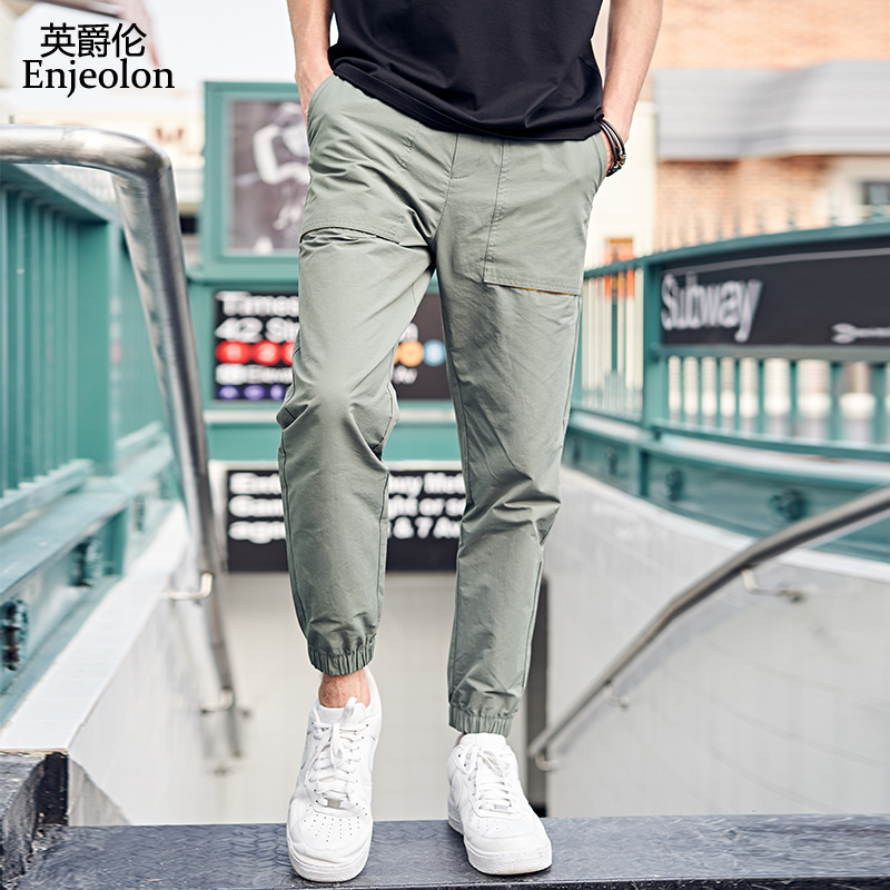 Enjeolon New Harem Pants Men Hip Hop Casual Cargo Joggers Trousers Male Fashion Sweatpants K6629