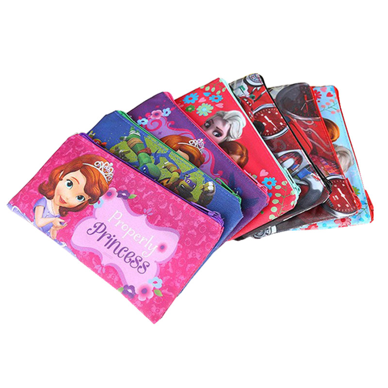 Boys Superman Pencil Bag Girls Else Princess Bag for Pen Minimos Cartoon Children Coin Purse kids Colorful Zipper Pencil Case 2016 new kids cartoon ice queen schoolbag girls boys printed princess backpacks children s zipper notebook bag