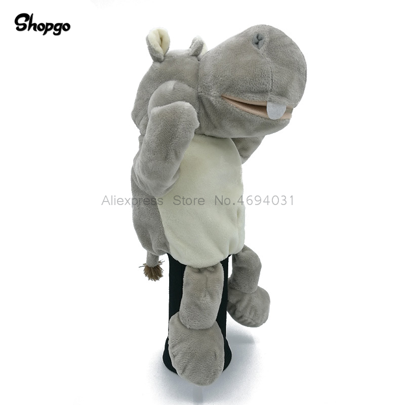 River Horse Hippo Golf Driver Headcover Cartoon Animal Cover Outdoor Sports Golf Accessories Mascot Novelty Cute Gift