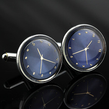 MMS Jewelry shirt cufflink for mens Brand cuff buttons Watch Shaped cuff link High Quality Wedding abotoaduras Free Shipping
