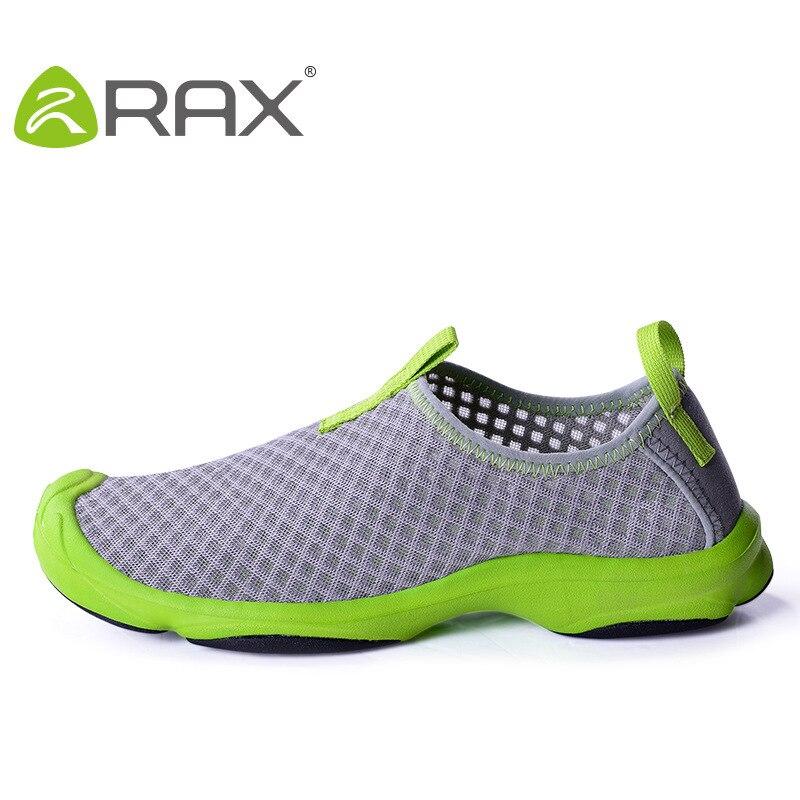 RAX séchage rapide Aqua chaussures pour hommes respirant maille chaussures de plage léger sans lacet en amont baskets eau Wading chaussures # B1588
