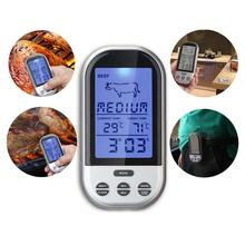 Programmable Wireless Remote Digital Thermometer Probe Meat BBQ Grilling Kitchen Cooking Food Meat Thermometer outdoor A609 APJ