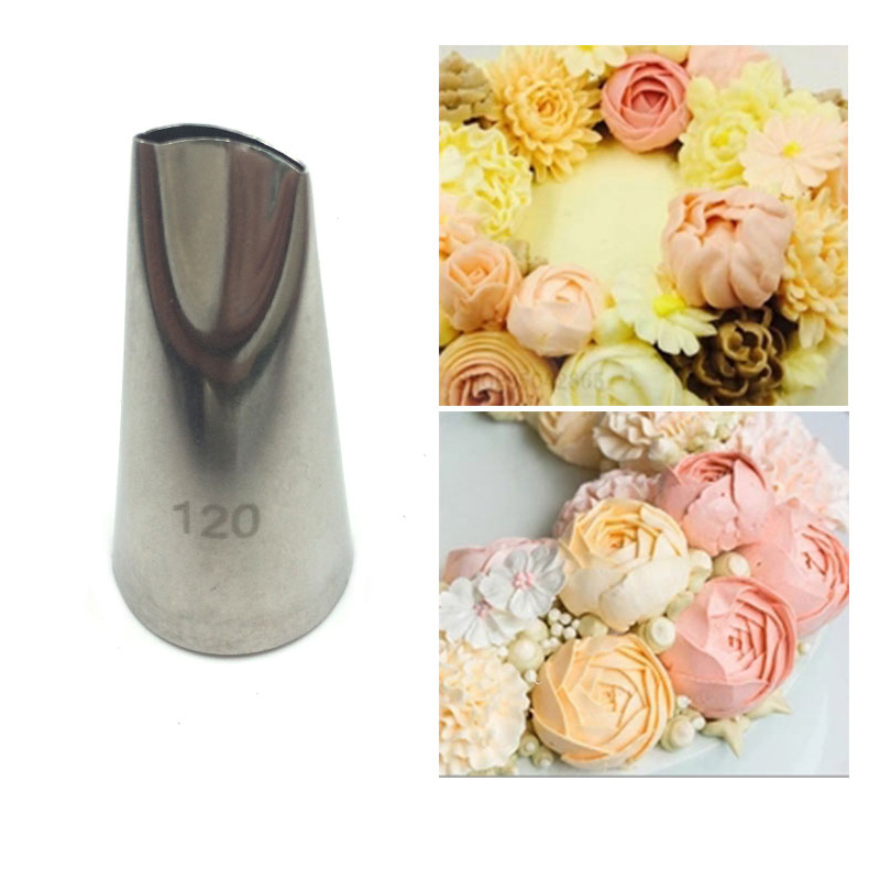 # 120 Rose Petal Tulip Dyser Icing Piping Pastry Tips Fondant Baking Tools Cake Cream Decorating