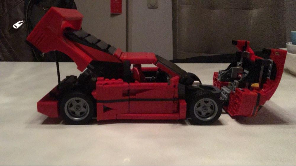 mylb Ferrarie F40 Sportbil Modell Byggstenar Kits Tegel Leksaker - Byggklossar och byggleksaker - Foto 2