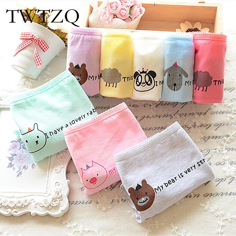 TWTZQ 2017 Hot Sell Underwear Brand Women Panties Candy Color Animal Cute Cotton Seamless Brief Traceless Pant For Women 5NK010 ...