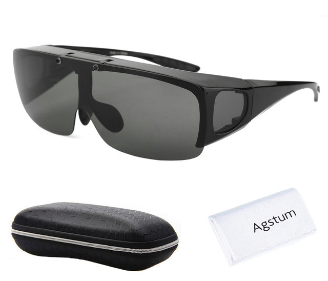Agstum Mens WOMENS แว่นตากันแดดแว่นตา Polarized แว่นตาตกปลาตกปลา Flip UP แว่นตากันแดด