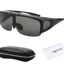 Agstum Mens Womens Wraparound Goggles Polarized Fishing Driv