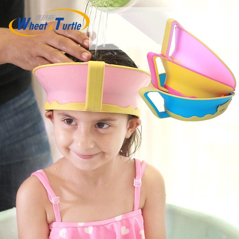 Baby Kids Bath Cap Visor Hat Adjustable Shower Shampoo Protect Eye Ears Hair Wash Shield Waterproof Splashguard for Children In