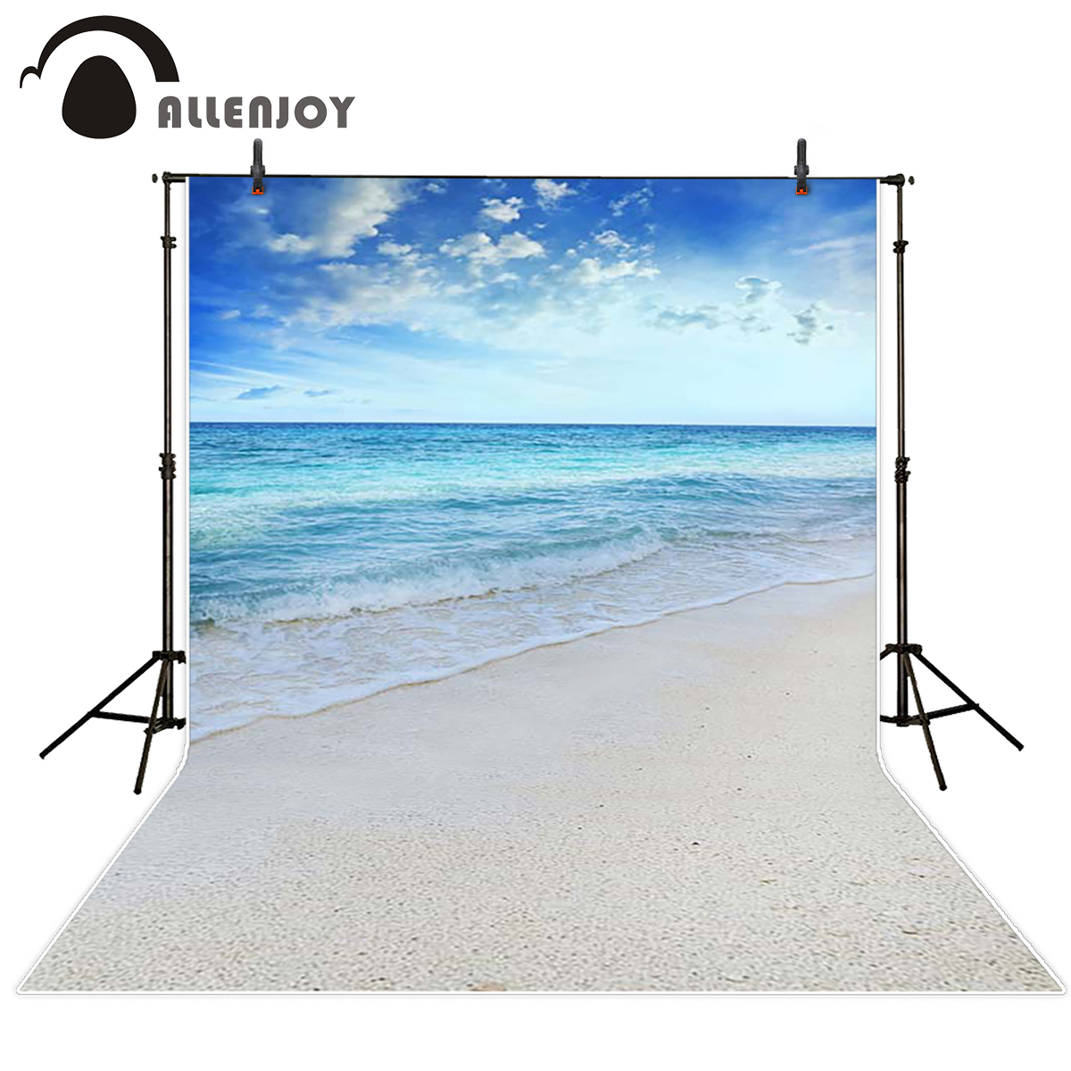 Allenjoy scenic Photo background White Beach spindrift Clouds seaside photography backdrops the cloth photographic camera kate backdrop for photography beach ocean wedding series background photo studio seaside scenic backdrops