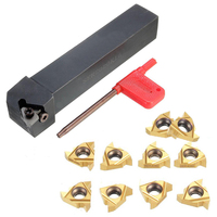 10pcs Practical 16ER AG60 Blades Inserts SER2020K16 Lathe Turning Tool Holder Boring Bar 1pc Wrench For