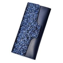 Hot Fashion Women Glitter Sequined Trifold Long Wallet Card Cash Holder