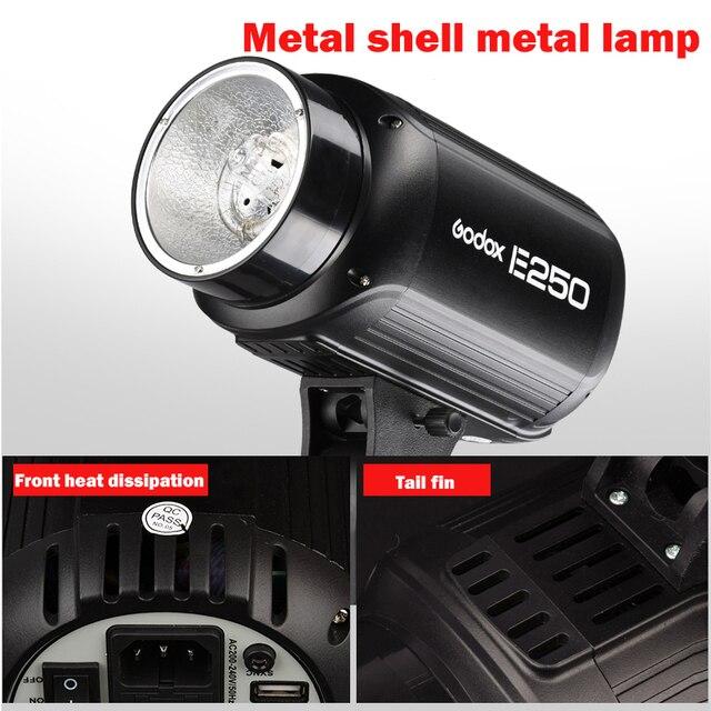 Hot sale speedlite flash, Godox E250 Pro Photography Studio Strobe Photo Flash Light Lamp 250W Studio Flash 220V and 110V