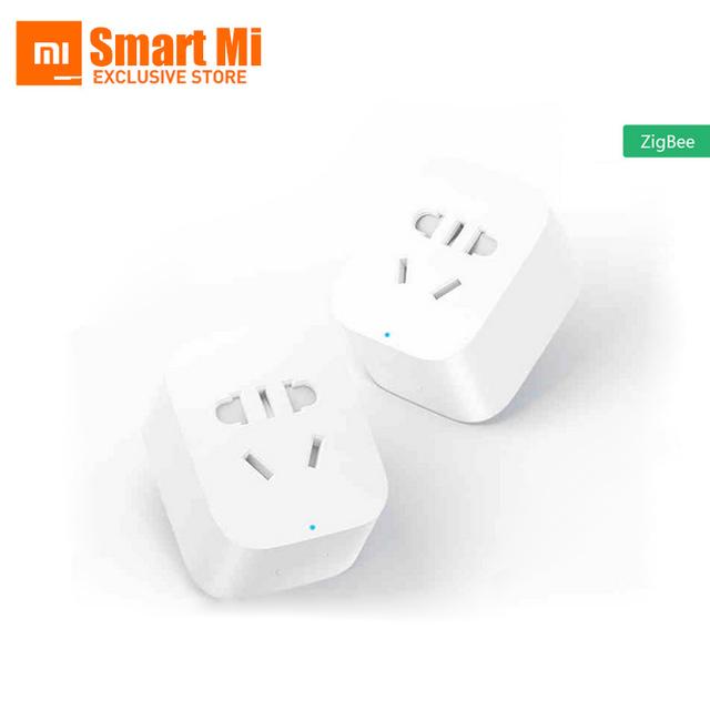Inglês Versão Em Estoque Mi Inteligente Zigbee Temporizador Plug Telefone Xiaomi Inteligente Tomada de Controle Remoto Sem Fio Com a UE/UA/REINO UNIDO/EUA Adaptador