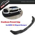 F26 X4 Carbon Fiber Front Bumper Diffuser Lip For BMW F26 X4 M-sport Bumper 2015 2016 Auto Racing Car Front Bumper Lip Spoiler