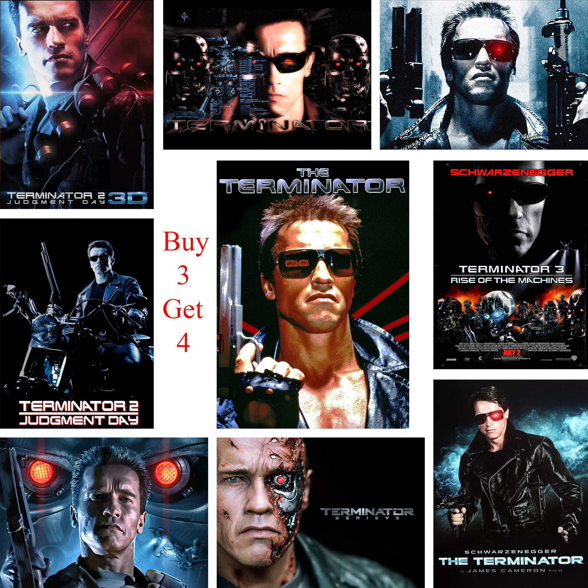 The Terminator Posters Movie Wall Stickers White Coated Paper Prints High Definition Home Decoration Livingroom Bedroom