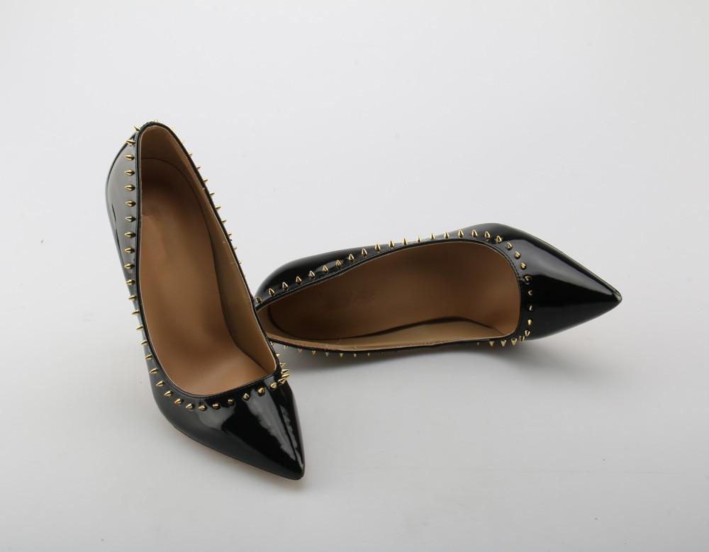 Talons Sexy Mariage Yue Hauts Chaussures Pompes Jabon picture Pointu 2 Noir picture Picture Verni Bout 3 Femmes De Cuir 1 En Italien Rivets Pointes À CxqXqYwr0z
