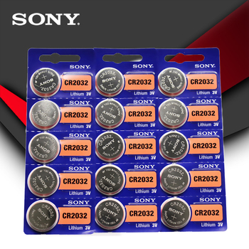15 sztuk partia SONY oryginalne baterie guzikowe cr2032 3V monety bateria litowa do zegarka pilot kalkulator cr2032 tanie i dobre opinie JP (pochodzenie) 225mAh 20MM*3 2MM Li-ion