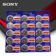 SONY – Piles bouton au lithium CR2032, 3V, originales, 15 pièces/lot, pour montre, télécommande et calculatrice