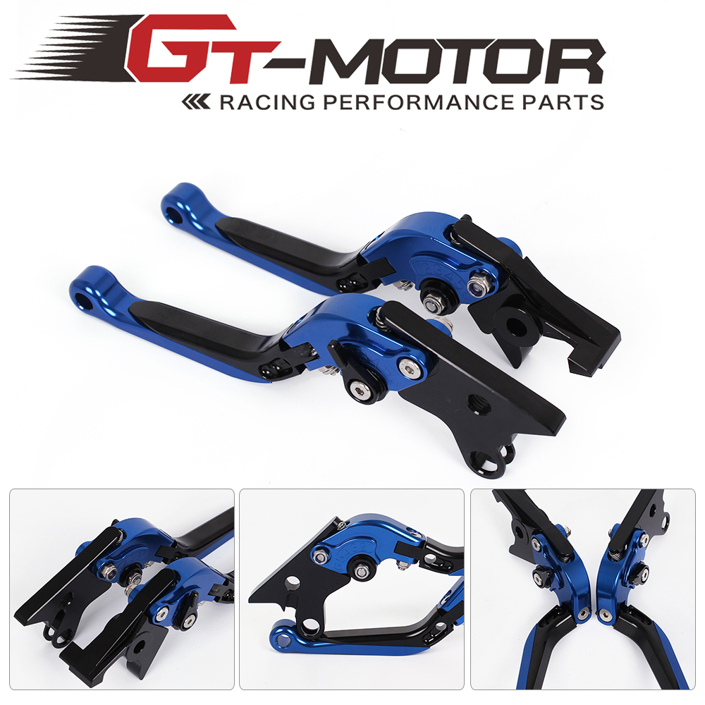 GT Motor - F-14/DB-60 Adjustable CNC 3D Extendable Folding Brake Clutch Levers For SUZUKI KATANA GSX1100F 91-93 RF900R 94-97 adjustable billet extendable folding brake clutch levers for bimota db 5 s r 1100 2006 11 07 09 10 db 7 08 11 db 8 1200 08 11