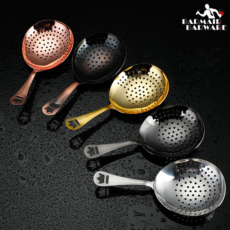 Julep Bar Cocktail Strainer 304 Stainless Steel Copper Plated Gold Plated Black Bar Tool in Bar Strainers from Home Garden