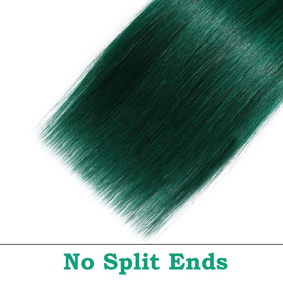 black pearl bundles ombre green human hair bundles  (2)