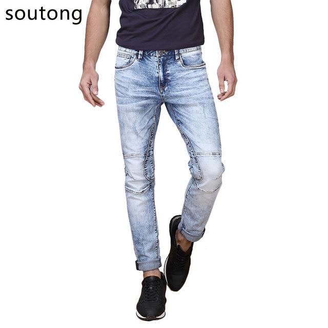 Soutong Джинсы Модные Джинсы Мужчины Труднодоступных И Узких Качества Skinny Jeans Мужчины Мягкие И Удобные Размер 28-36 7310