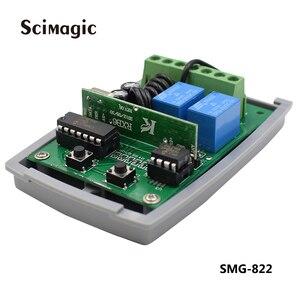 Image 3 - 12 24v DC 2 canali codice fisso apprendimento del codice e il codice di rotolamento 433.92 ricevitore trasporto libero