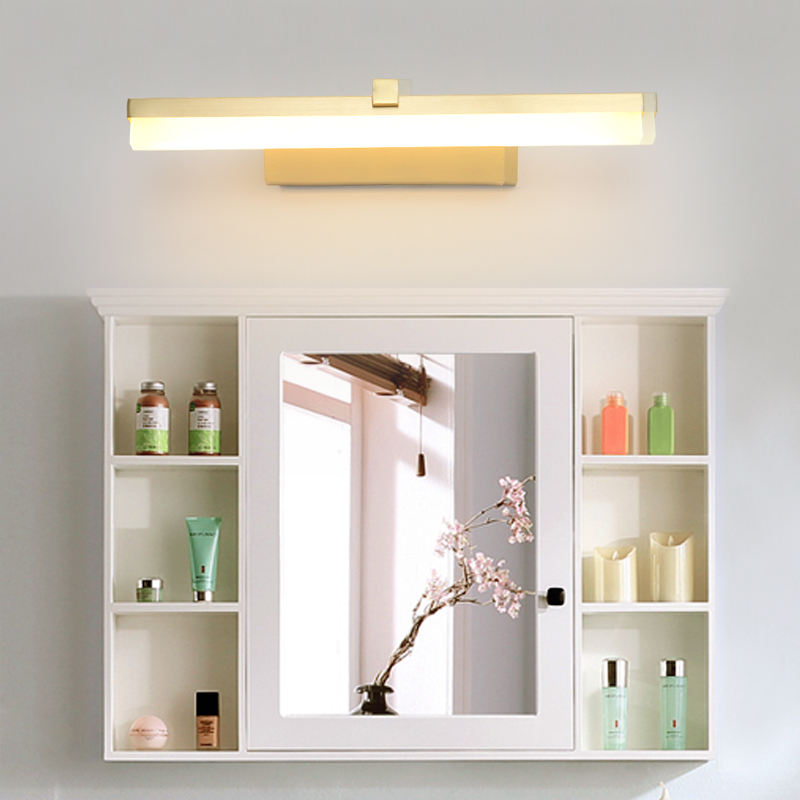 Nordic mirror headlights bathroom mirror lamp bathroom mirror cabinet bathroom copper modern minimalist led mirror headlightsNordic mirror headlights bathroom mirror lamp bathroom mirror cabinet bathroom copper modern minimalist led mirror headlights