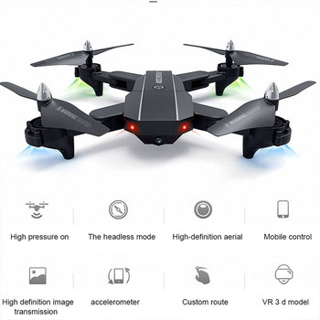 Advanced Intelligent Folding Drone WIFI FPV 480P/720P HD Camera 6-Axis Headless Mode Hover Stable Gimbal Quadcopter