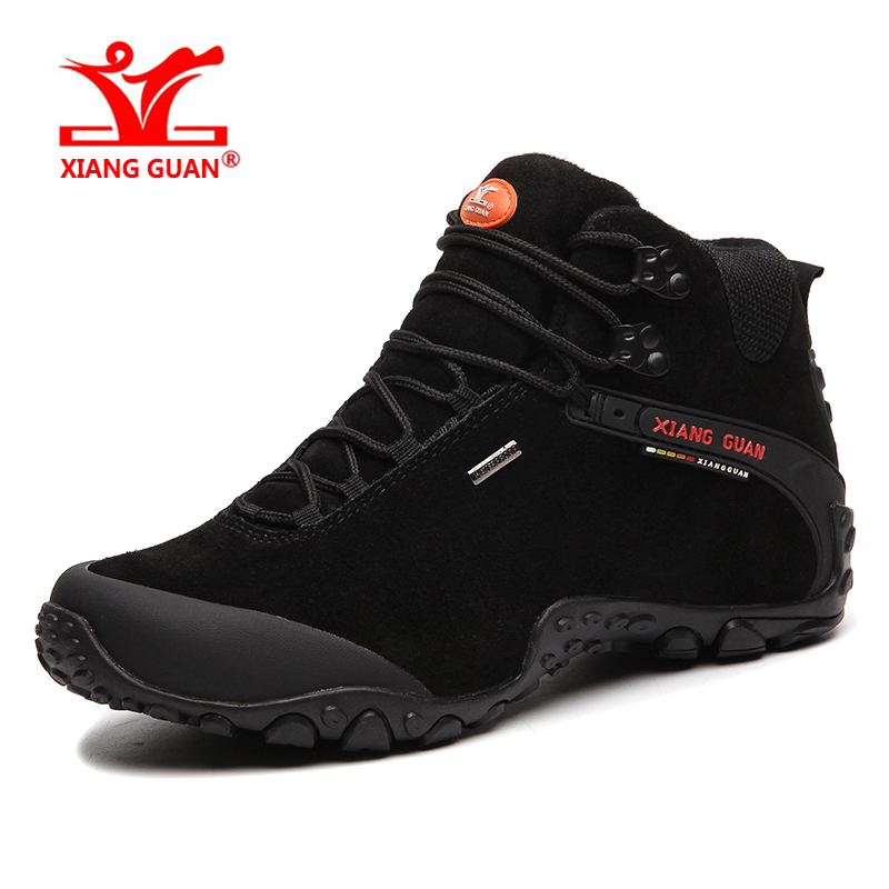 XIANGGUAN Man Outdoor Hiking Climbing <font><b>Shoes</b></font> Damping Breathable Black Tactical Boots Protect Ankle Sneaker <font><b>Men</b></font> Sport <font><b>Shoes</b></font> 4-15