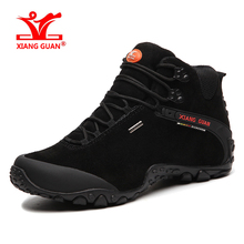 XIANGGUAN Man Outdoor Hiking Climbing Shoes Damping Breathable Black Tactical Boots Protect Ankle Sneaker Men Sport Shoes Four-15