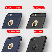 Ultra Slim Silicone Case for iphone 7 6 6s 8 X Cover Coque Candy Colors Black Shell Soft TPU Matte Phone Case for iphone7 8 plus