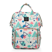 hot deal buy 2018 new fashion mummy diaper bag multi-function large capacity mother bag light waterproof geometric pregnant women backpack
