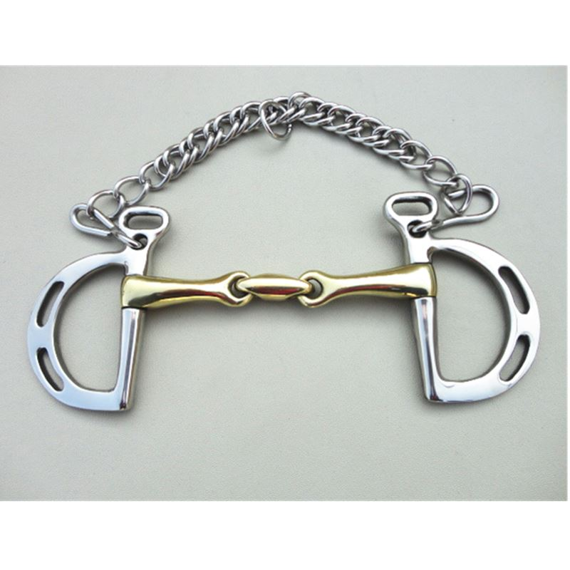 Stainless Steel Kimberwicke Bit  Horse Equipment 5 Inches Brass Copper Mouth Snaffle