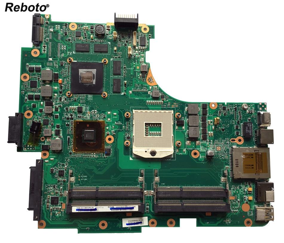 Reboto High quality FOR ASUS N53JQ Laptop motherboard 60 NZUMB1200 N53JF MAIN BOARD REV 2 0