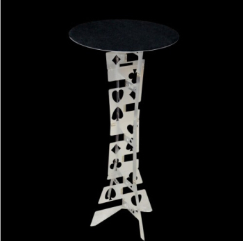 Aluminum Alloy Magic Round Folding Table,Silver Color,Magician'S Best Table,Magic Trick,Stage,Illusions,Accessories
