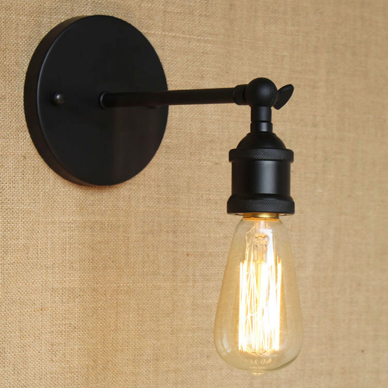 modern brief loft elegant black adjust wall lamp for bar bathroom study foyer diningroom vanity lights cheap vanity lighting