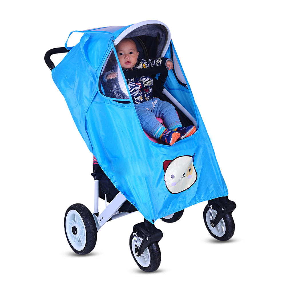 4 Colors Baby Stroller Accessories Universal Waterproof Rain Cover Travel Cover Case Umbrella Trolley Cover Bag Stroller Part