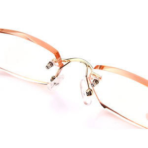 Image 3 - SOOLALA Rhinestone Anti Blue Light Reading Glasses Women Diamond Cutting Rimless Glasses Men Golden Reader Presbyopic Eyeglasses