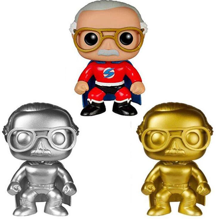 Funko POP Anime Stan Lee Collection Model Toys Red Superhero Pop Vinyl Movie Action Figures Kids Toys For Children